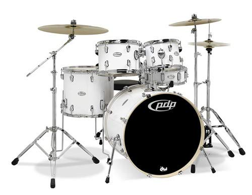 PDP By DW Mainstage 5-Piece Drum Set w/Hardware and Paiste Cymbals White, inch (PDMA2215P8WH) (Drum White Set)