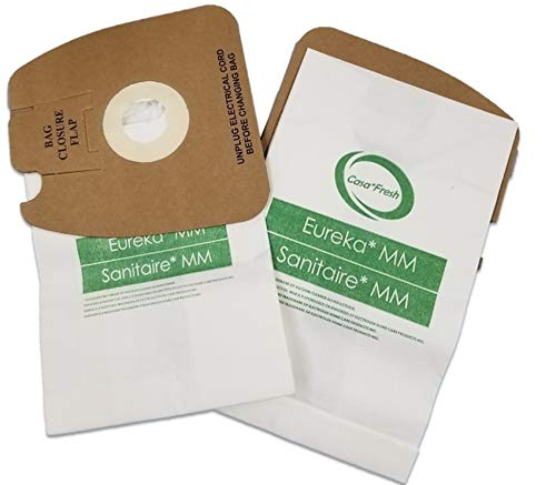 Casa Fresh 24 Pack Eureka MM Micro-Lined Mighty Mite and Sanitaire Allergen Filtration Vacuum Cleaner Bags. Compare To Part 60296C, 60295B, 60295A, 60295C