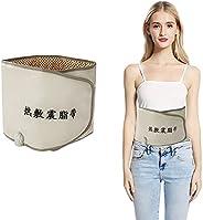 Waist Trimmer Belt, Hot Compress Far Infrared Heating Slimming Belt Vibrating Weight Loss Massager Fitness Dev
