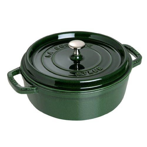 Staub Wide Round Oven Shallow Cocotte, Basil, 6 qt. - Basil