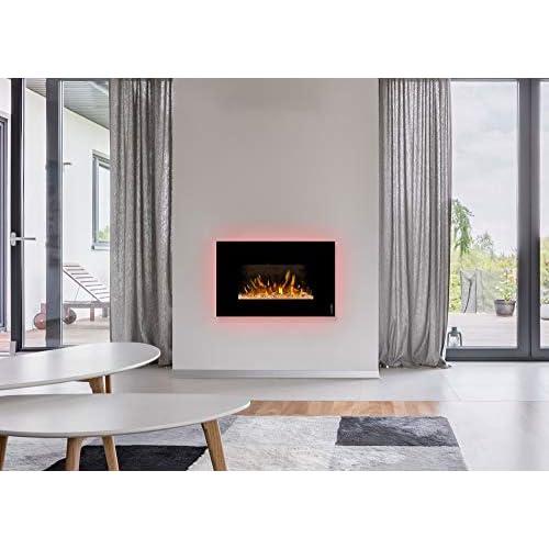 41ttFi4p%2BaL. SS500 ¿Sin chimenea? No hay problema de ambiente acogedor y agradable calor para cualquier habitación. Consumo de energía de solo 20 W en modo llama gracias a la tecnología LED de bajo consumo. 0,9 kW o 1,7 kW de potencia de calefacción mediante un ventilador de convección conmutable.