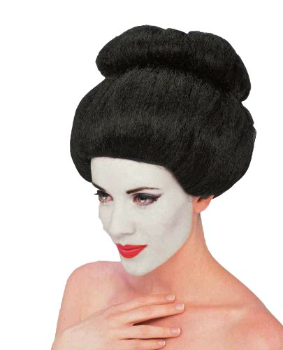 Geisha Wig Adult (Forum Geisha Wig, Black, One Size)