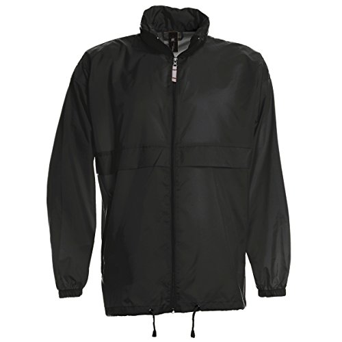 B&C Sirocco Mens Lightweight Jacket / Mens Outer Jackets (3XL) - Black Jacket Nylon Lightweight
