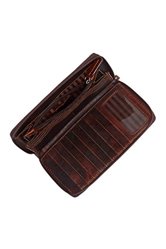 Jack Georges Voyager Large Zip-Around Leather Travel Wallet in Brown by Jack Georges (Image #1)