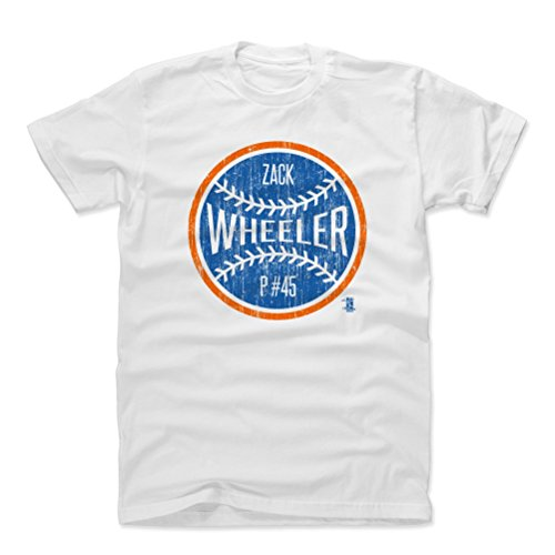 500 LEVEL Zack Wheeler Cotton Shirt XX-Large White - New York Baseball Men's Apparel - Zack Wheeler New York Ball B