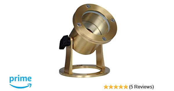 1 3 Year Unlimited Warranty Westgate Lighting LED Underwater Light-Brass Housing Landscape Lighting-Warm White Glass Lens Light with MR16 Lamp Included