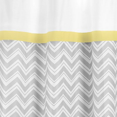 Amazon.com: Yellow And Gray Zig Zag Kids Bathroom Fabric Bath Shower Curtain  By Sweet Jojo Designs: Home U0026 Kitchen