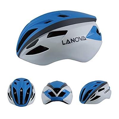 Bicycle Helmet Adult One-Piece Mountain Bike Road Bike Riding Helmet Adjustable PC + EPS 14 Holes-Blue-M(55-57CM) : Sports & Outdoors