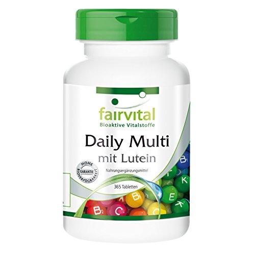 Daily Multi mit Lutein - Multivitamin und Mineral - nur 1 Tablette pro Tag, preiswerte Großpackung 365 Tabletten