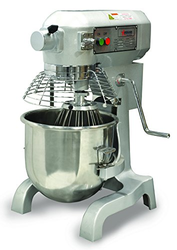 Omcan 17835 20qt GENERAL PURPOSE Mixer with Guard 3 attachments & Timer -