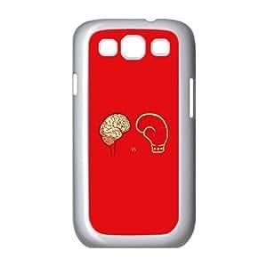 Samsung Galaxy S3 9300 Cell Phone Case White_ai22 brain vs boxing illust minimal art Lbtxs