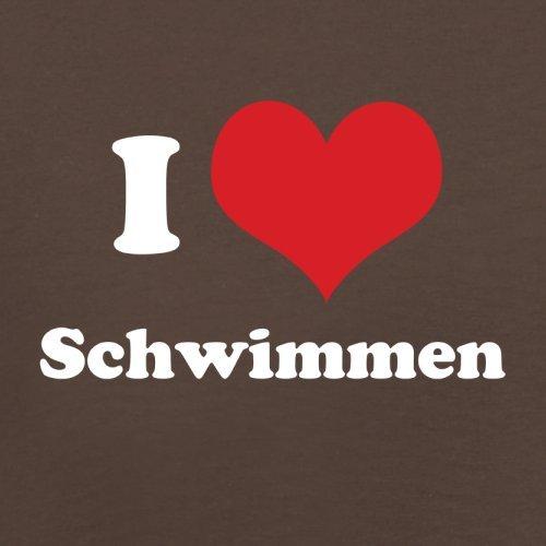 I Love Schwimmen - Herren T-Shirt - Schokobraun - M