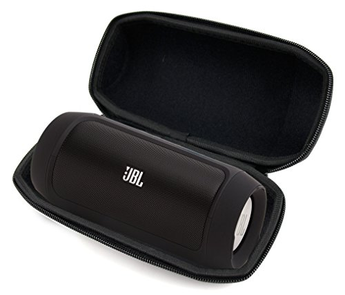 DURAGADGET Premium Quality Hard EVA Case in Black - Suitable for JBL Charge, JBL Charge 2 and JBL Charge 2+ Wireless Bluetooth Speaker - with Carabiner Clip & Durable Carry Handle