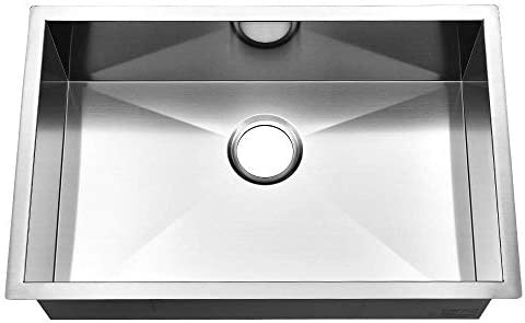 Commercial 28 Inch 16 Gauge Undermount Single Bowl Stainless Steel Kitchen Sink