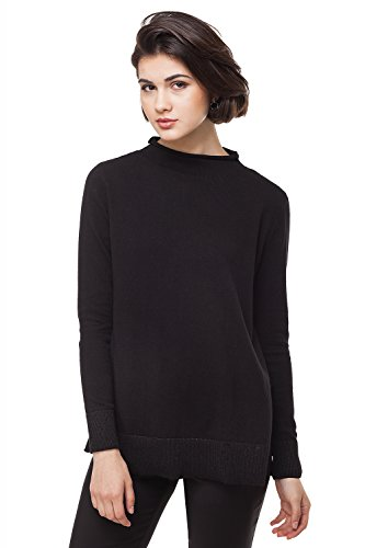 Long Sleeve Pullover Sweater - VILATTE Women's Turtleneck Long Sleeve Knit Pullover Sweater (2XL(18), Black)