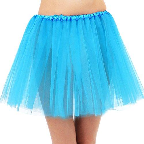 Two Toned Tutu (Simplicity 3 Layered Ballerina Tutu W/ Stretch Waist, Tulle Fibers, Sky Blue)