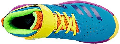 adidas BB Fun 2 K, Zapatillas de Baloncesto Para Niños Amarillo (Amabri / Azuart / Rojray)