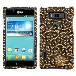 MYBAT Jeweled Jaguar Diamante Phone Protector Cover compatible with LG US730/Splendor /Venice /L86c/Optimus Showtime