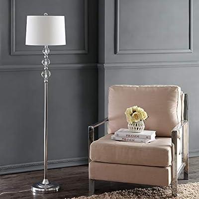 "Safavieh LIT4175B Lighting Collection Venezia 61"" Clear and Chrome Floor Lamp, Crystal"