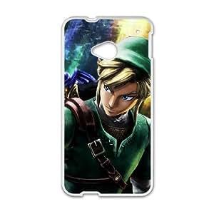 HTC One M7 Cell Phone Case White Super Smash Bros Link JNR2996639