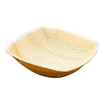 "Restaurantware 100 Count box 5.5"" Midori Palm Leaf Square Bowl"