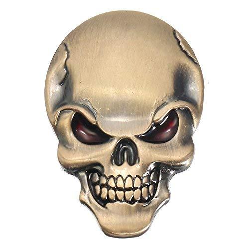 (Exterior Accessories - Demon Skulls Metal 3d Car Sticker Skull Bone Emblem Badge Decals Sticker - Mens Tee Shirts Heavy Metal Skulls Metallica Skull Emblem - Decals For Motorcycles)