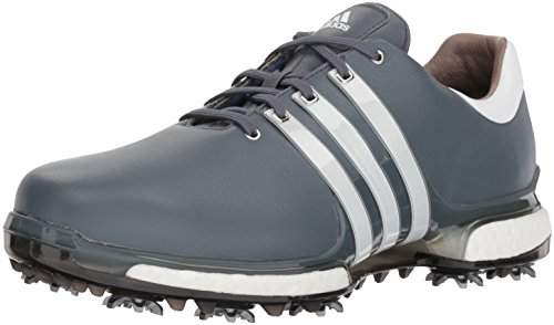 Adidas Leather Wrap - adidas Men's TOUR360 2.0 WD Golf-Shoes, Onix/FTWR White/Core Black, 8 Wide US