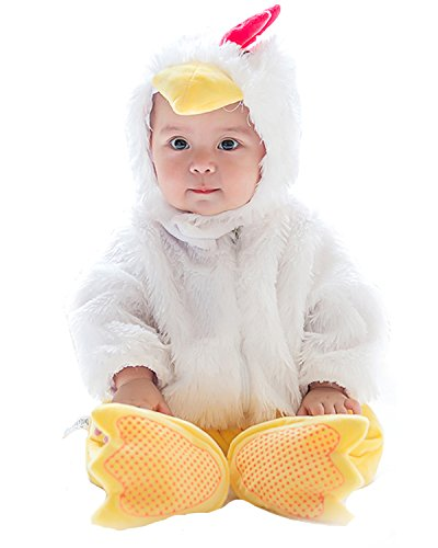 Costumes Halloween Baby Chick (Kidsform Unisex-Baby Halloween Cosplay Animal Costume Romper Onesise Bodysuits Outfits Suit chick 6-12)