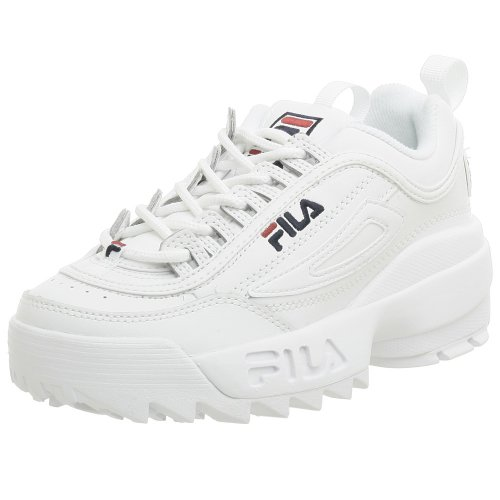 - Fila Youth Disruptor II Sneaker,White/Navy/Red,5 M US Big Kid
