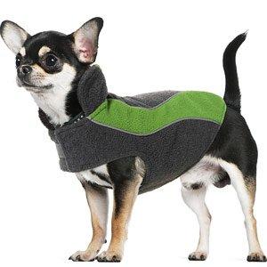 Kakadu Pet Explorer Fleece Reflective Dog Coat, 10″, Grass (Green), My Pet Supplies