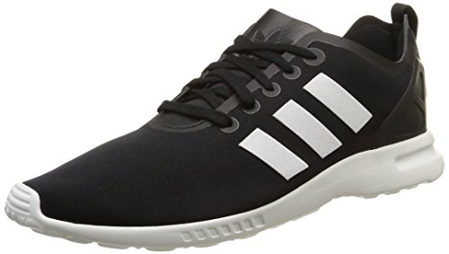 adidas ZX Flux Smooth, Women's Trainers Black - Schwarz (Core Black/Core White/Core White)