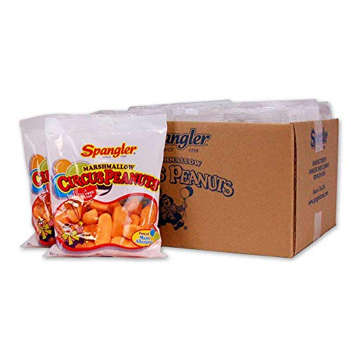 Spangler Circus Peanuts Candy, 5-Ounce (Pack of 12)