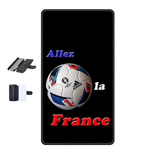 Housse Iphone 7 - France Euro 2016 Noire