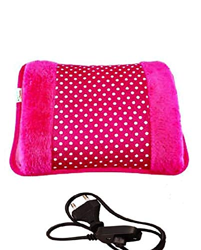 CIERIE Portable Rechargeable Electric Soft Velvet Cover Hot Water Bag with for Warming Your Hands/Pain Relief/Muscle…
