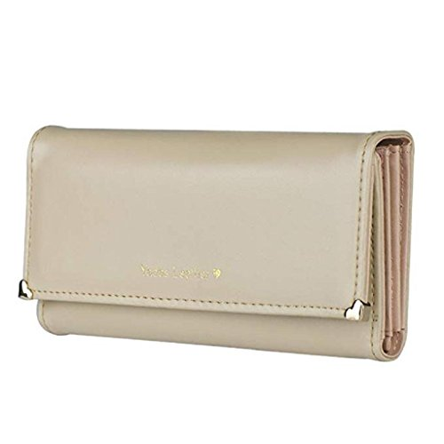 Wallet 2018 wallets wrist Clutch cute Gift Noopvan Long Bags Purse Clearance Women PU Wallet Beige Elegant Leather wallet dZEAxw