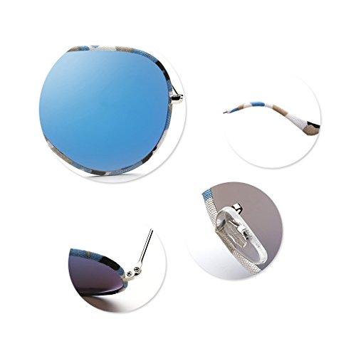 Orange de la Adulto Sol UV400 Unisex Gafas Gafas polarizadas Espejo de Gafas Color Manera de Blue Moderno Sol Gafas TqwgZxE4t