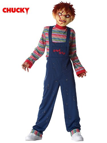 [Licensed Chucky (tm) Costume w/mask for Child - Costume Ideas] (Chucky Costumes For Children)