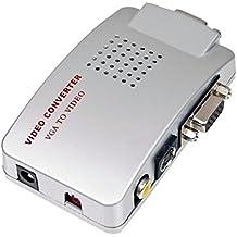 Conversor Adaptador VGA para RCA e S-Vídeo Ideal para PC Notebook TV Projetor Etc