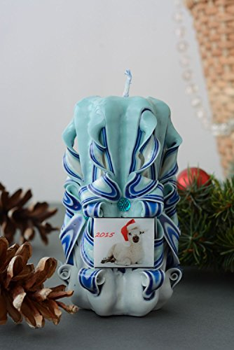 Christmas Paraffin Candle by Handmade