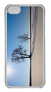 iPhone 5C Case, Personalized Custom Winter Scenery 16 for iPhone 5C PC Clear Case