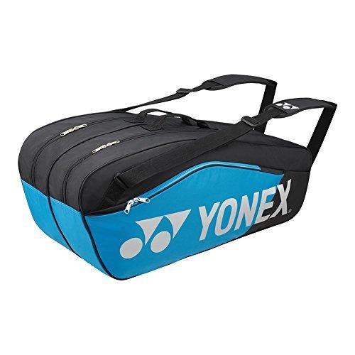 Yonex – Pro Replica 6 Pack Tennis Bag Black and Infinite Blue – (BAG6826)