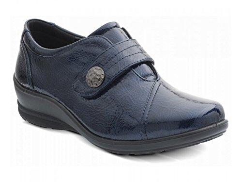 Velcro Ladies Ee Patent dual Padders Navy Blunavy Wide Simone E Shoes lTcu13FKJ