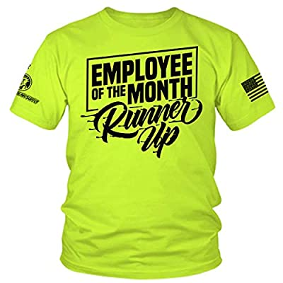 Armed American Supply Employee of The Month Runner Up - Hi Vis/Hi Viz Funny Construction Safety Work Shirt