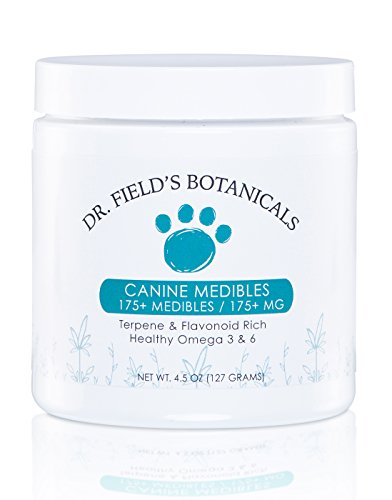 Dr-Fields-Botanicals-Canine-Medibles-175-Hemp-Dog-Treats-1-mg-Full-Spectrum-Aerial-Hemp-Oils-Infused-Per-Treat-Great-for-Old-HipsJoints-Stress-Pain-Anxiety-More