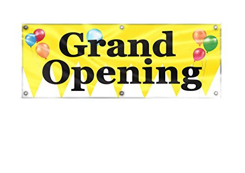 Grand Opening Outdoor Indoor Banner, 24