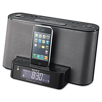 Sony ICFCS10iP - AM/FM Clock Radio with iPod/iPhone Speaker Dock.