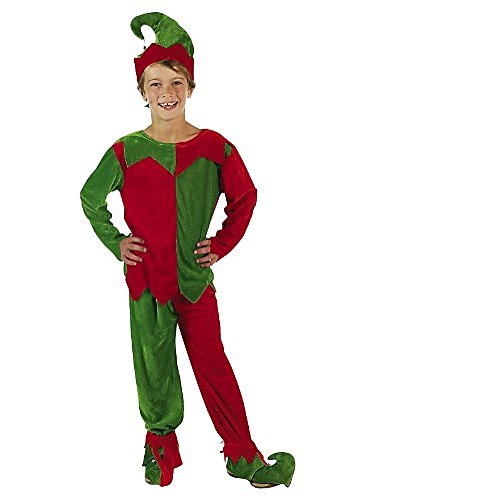 Elf Costumes For Children (Velour Elf Child's Costume Set by Fun Express)