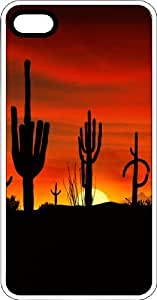 Arizona Desert Cactus Sunset Clear Rubber Case for Apple iPhone 4 or iPhone 4s