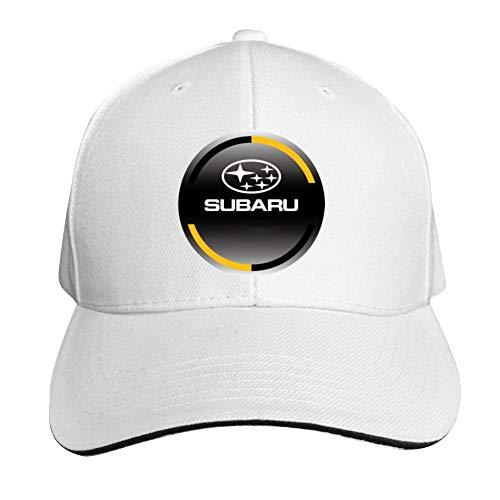 GGLDAN Subaru Logo Adjustable Baseball Caps Vintage Sandwich Hat Sandwich Cap Peaked Trucker Dad Hats White