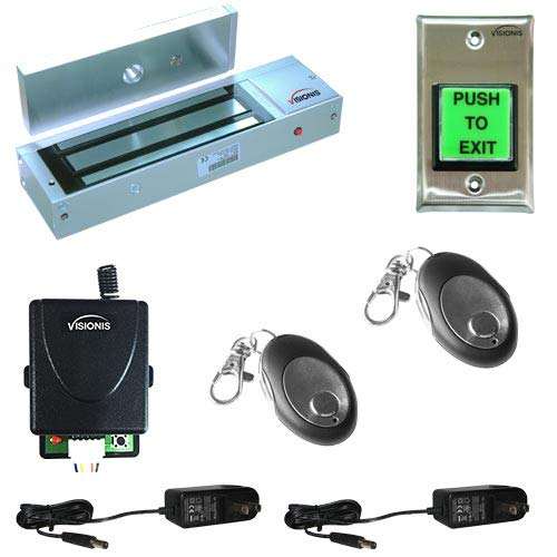 FPC-5018-VS One door Access Control Visionis outswinging door 1200lbs Electromagnetic lock kit with wireless receiver and remote kit